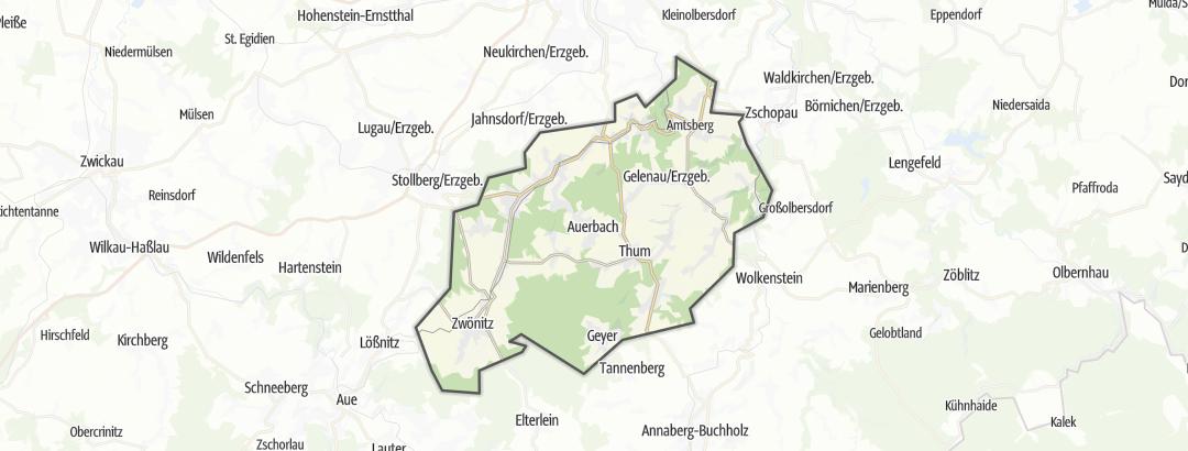 Karte / MTB-Touren in der Greifensteinregion