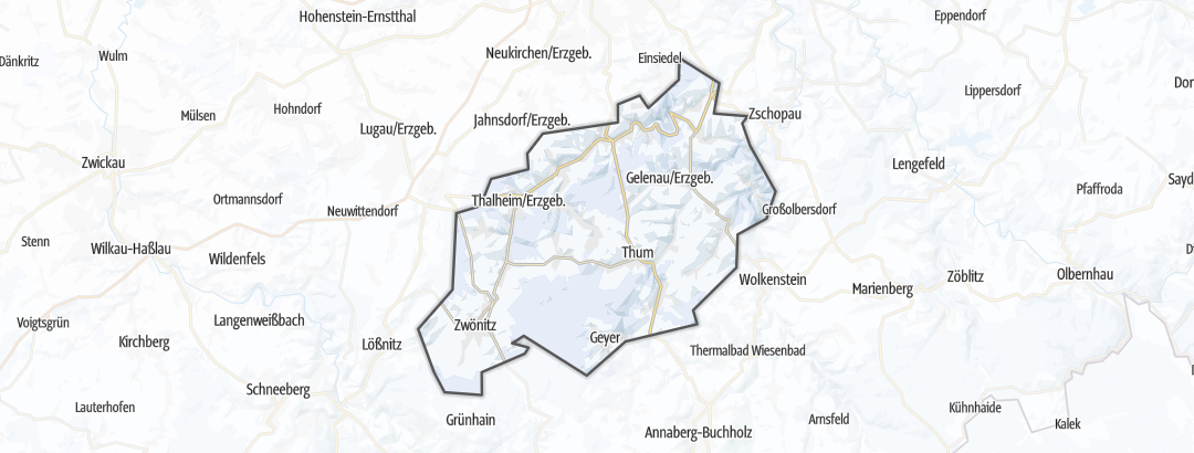 Karte / Langlauf-Loipen in der Greifensteinregion
