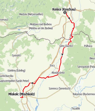 Térkép / Miskolc-Kassa Ultramaraton 2020.