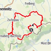 Karte / Schlösser und Burgentour zwischen Scharfenstein und Frauenstein