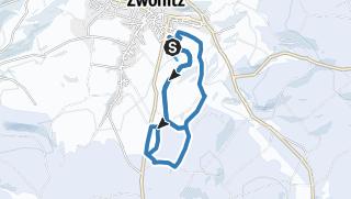 Karte / Langlaufstrecken Zwönitz