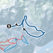 Map / Schneeschuhwanderung von Steinrast zur Kühbergalm über die Riemerberglalm