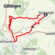Karte / Duderstadt. Aus dem Eichsfeld am grünen Band ins Werratal