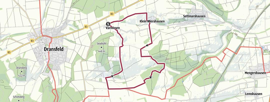 Karte / Dransfeld Rundwanderweg D17