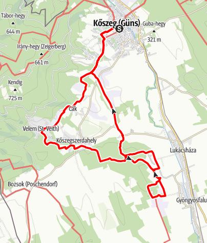 Térkép / alpannonia® mellékútvonali körtúra - Kőszeghegyalja és a Csömöte-hegy