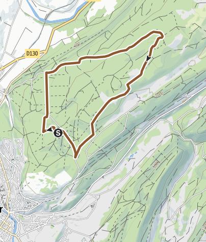 Carte / La Malmaison - Circuit VTT 82