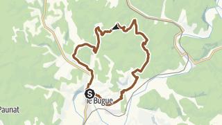 Carte / Parcours VTT n°2: Le Bugue-St Cirq