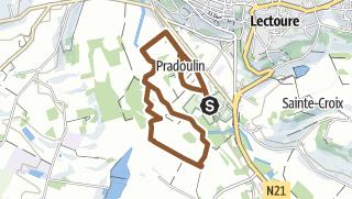 Carte / Parcours VTT n°1 – Lectoure