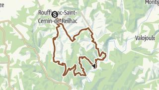 Carte / Parcours VTT n°5: Rouffignac - Le Moustier