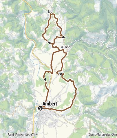 Carte / Circuit VTTn°31 : Les côtes du Forez
