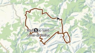 Carte / Parcours VTT n°7: Rouffignac - l'Herm