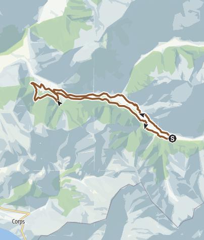 Carte / Parcours n°31 : Canaux du Valjouffrey