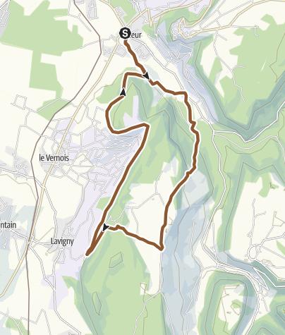 Carte / Parcours VTT n°7: Ravaillac