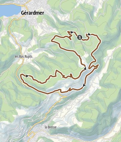 Carte / Gerardmer – Circuit n°2 Haute Bruche – Chaune Francis