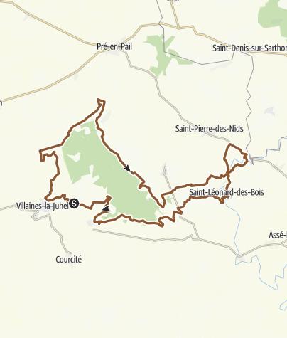 Carte / Circuit VTT n°7: Le tour de la forêt de Pail