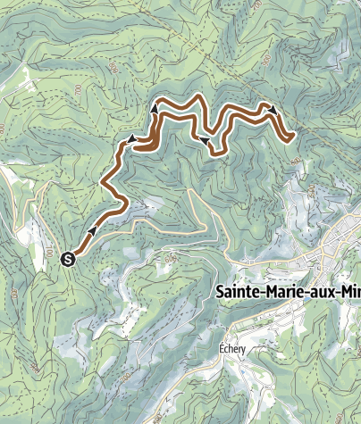 Carte / Circuit VTT n°2 - La Pierre de Lusse