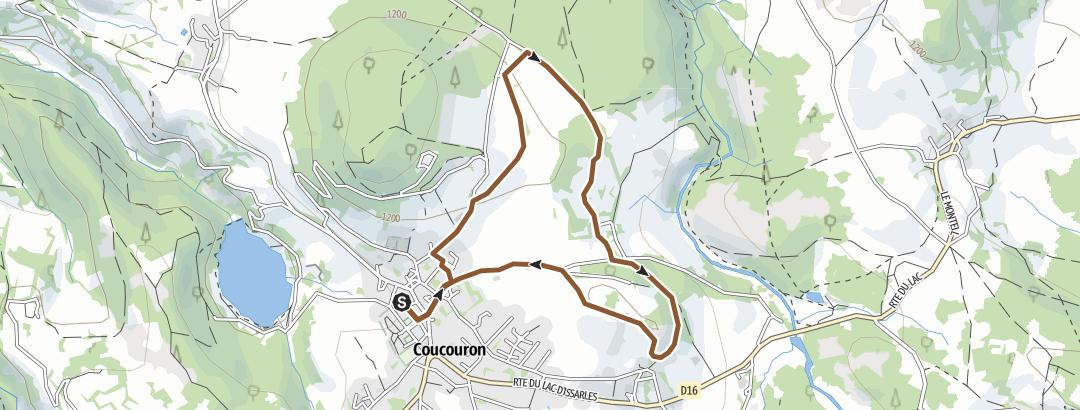 Carte / Circuit VTT n°12: Le Serre de Montmoulard