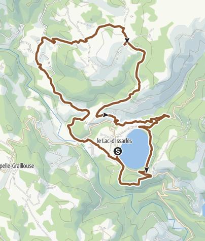 Carte / Circuit VTT n°50: village d'Issarlès