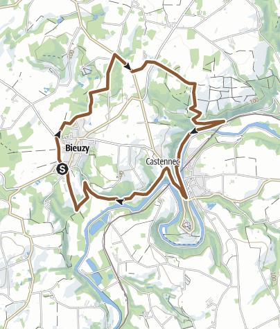 Carte / Circuit n°1 de Castennec