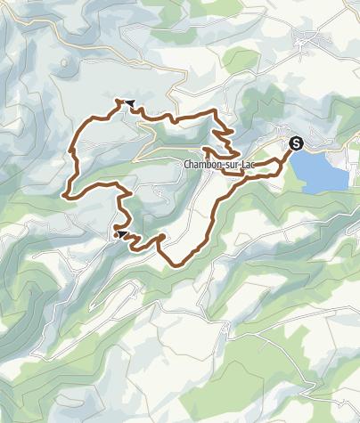 Carte / Circuit VTT n°7: Bressouleille - Secteur Chambon sur Lac