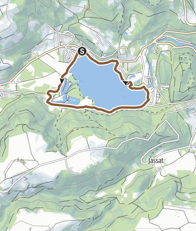 Carte / Circuit VTT n°4: Le Lac - Secteur Chambon sur Lac