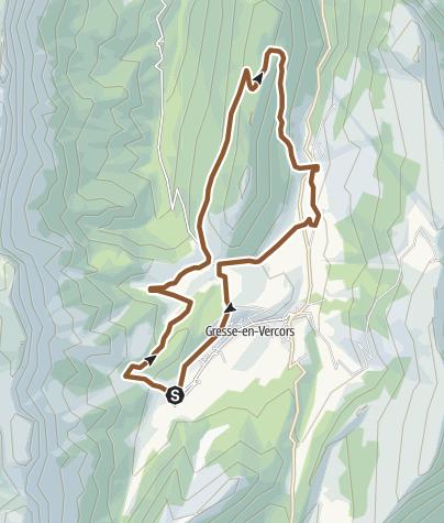 Carte / Circuit VTT n°44 : Le tour du château vert - Gresse en Vercors