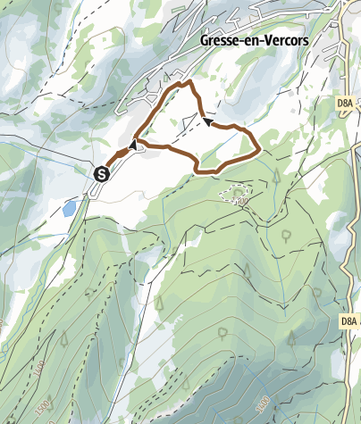 Carte / Circuit VTT n°40 : Sentier de l'eau - Gresse en Vercors