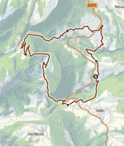 Carte / Circuit VTT n°21 : Sous le Mont Aiguille - Saint Martin de Clelles