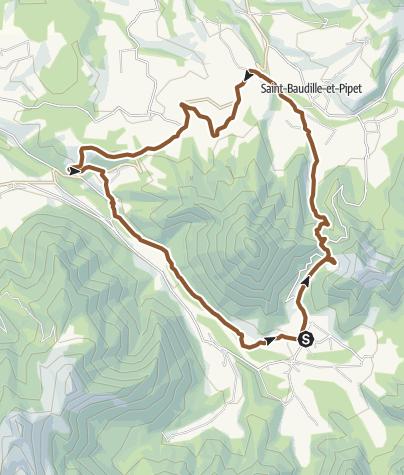 Carte / Circuit VTT n°10 : Le tour du Ménil - Tréminis