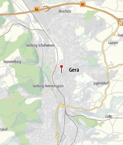 Mapa / Sparkasse Gera-Greiz Verwaltungsgebäude