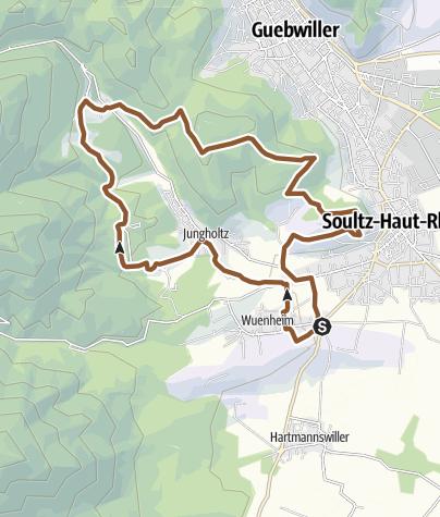 Carte / 13 - Circuit VTT de Sainte-Anne