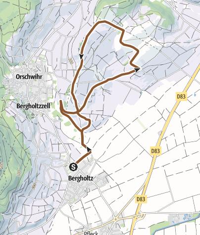 Carte / 17 - Circuit VTT du Bollenberg