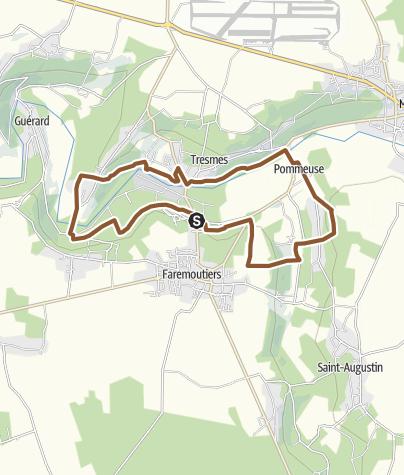 Carte / Circuit VTT n°13: Pommeuse - La Celle sur Morin