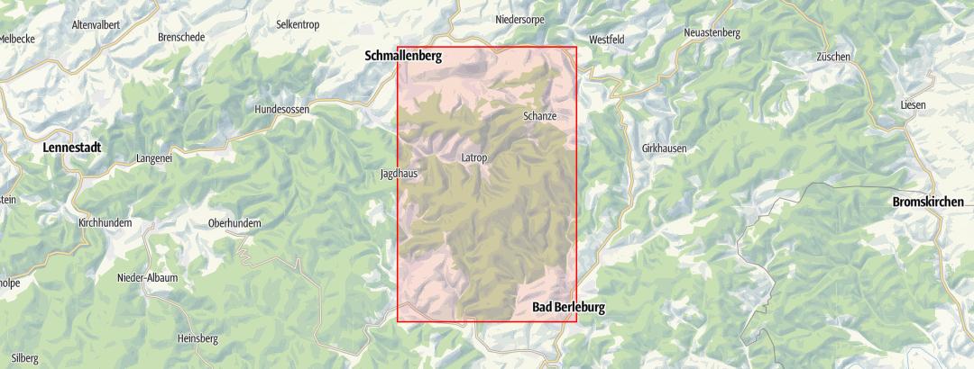 Karte / Wandertaxi zum WaldSkulpturenWeg
