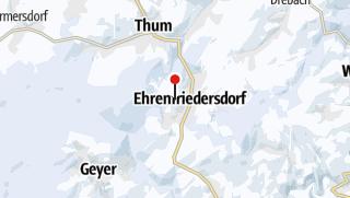 "Karte / Kleiner familiärer Rodelhang am ""Steinbüschel"", am Ortsrand Ehrenfriedersdorf."
