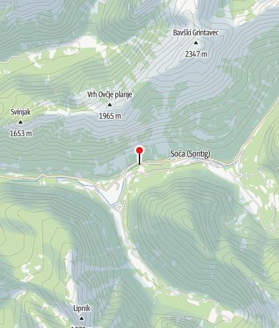 Map / Soča gorge