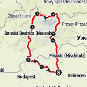 Map / 8 nap alatt a Tátra körül