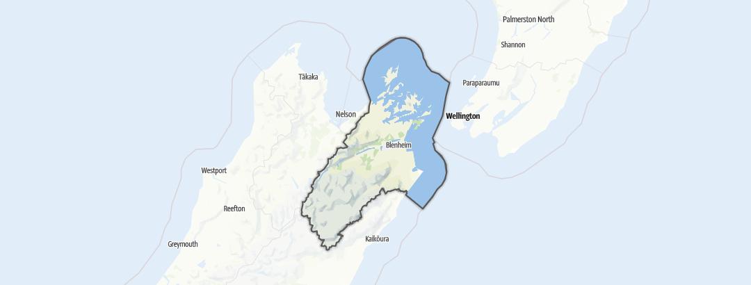 Karte / Marlborough Region