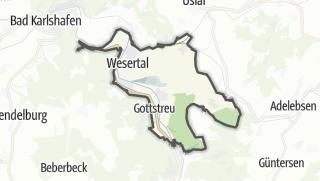 Karte / Hütten in Wesertal