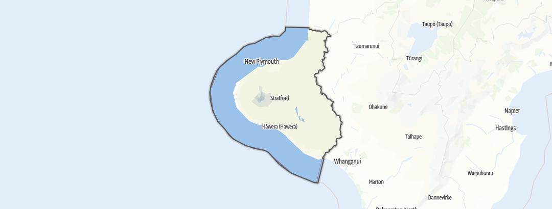 Karte / Taranaki Region