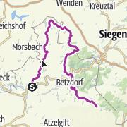 Karte / Westerwaldschleife: Wissen - Daaden