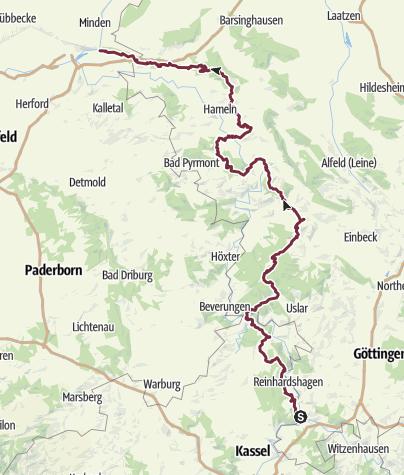 Karte / Weserberglandweg
