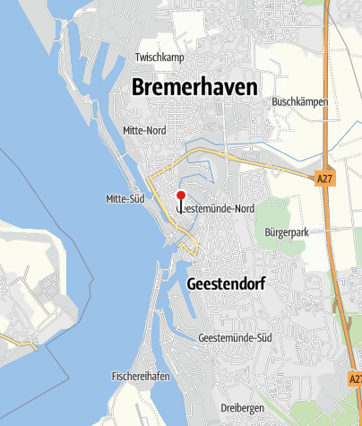 Karte / Öffentliche Toilette, Bremerhaven