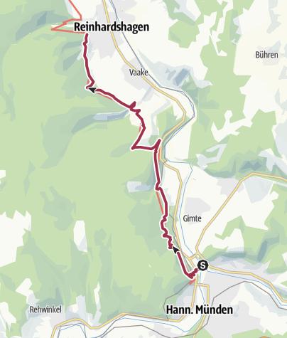 Karte / Weserberglandweg-Etappe1