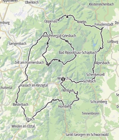 Map / Schmale Wege im Schwarzwald