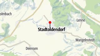 Karte / Tourist-Information im Reisebüro van Balen