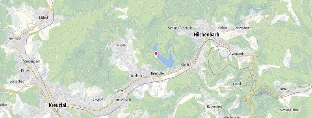 Map / Teilstück zwischen oberem Ende der Talsperre und dem Alten Wärterhaus sehr schlecht begehbar.
