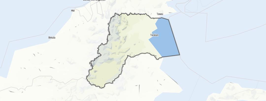 Karte / Kalimantan Utara