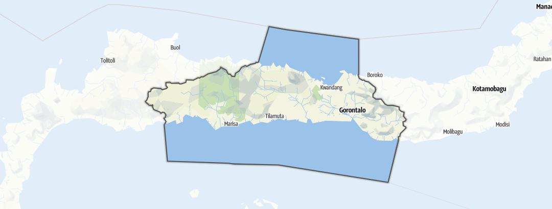 Karte / Gorontalo