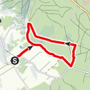 Karte / Rundwanderung Rote Weisseritz - Schinderbrücke